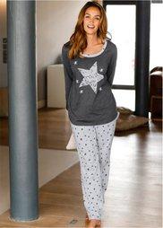 Пижама (антрацитовый меланж) Bonprix