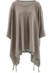 Пуловер с удлиненными боковыми краями (цвет белой шерсти) Bonprix