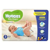 Подгузники Huggies Ultra Comfort для мальчиков Mega Pack (3) 5-9 кг, 80 шт.