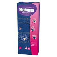 Трусики-подгузники Huggies 5 для девочек Mega Pack 13-17 кг, 48 шт.
