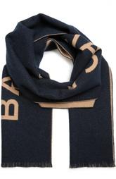 Кашемировый шарф с булавкой и логотипом бренда Balenciaga