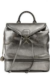 Рюкзак из металлизированной кожи с цепями Alexander McQueen