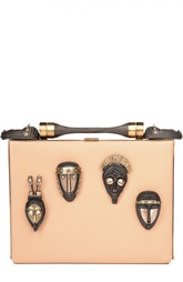 Минодьер на цепочке с масками из древесины и металла Valentino