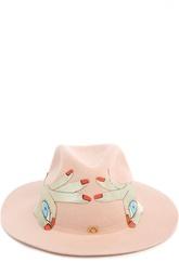Фетровая шляпа с аппликацией MiniMe Paris