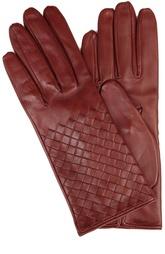 Кожаные перчатки с плетением intrecciato Bottega Veneta