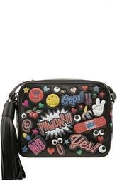 Кожаная сумка с принтом Anya Hindmarch