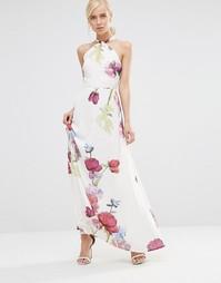Платье макси с лямкой вокруг шеи и цветочным принтом Hope And Ivy