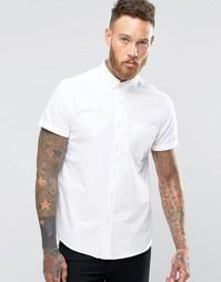 Белая рубашка с короткими рукавами классического кроя ASOS - Белый