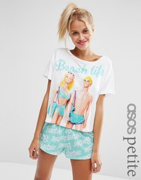 ASOS PETITE Barbie Beach Life Pyjama Set - Мульти