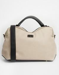 Объемная фактурная сумка на плечо Pauls Boutique Lauren - Серый