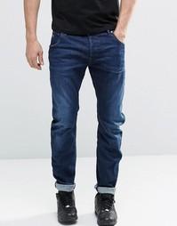 Зауженные темные джинсы G Star Type C 3D - Темный состаренный