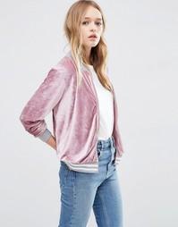 Вельветовая куртка-пилот ASOS - Розовый
