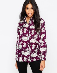 Свободная блузка с розами Poppy Lux Reanne