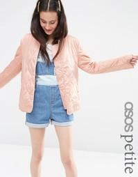 Куртка со стеганой отделкой ASOS PETITE - Розовый