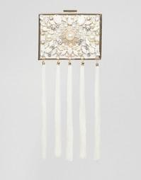 Сумка-клатч на жесткой основе с кисточками и жемчугом ALDO - Золотой