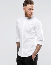 Зауженная стретчевая рубашка с воротником на пуговице Noose & Monkey