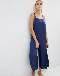 ASOS LOUNGE Satin Jumpsuit - Темно-синий