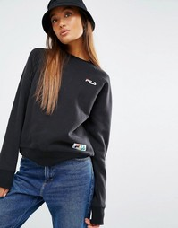 Fila Sweatshirt With Logo And Tape Detail Badge - Черный