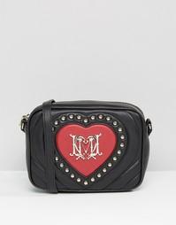 Маленькая сумка через плечо с сердцем из заклепок Love Moshino - Ros