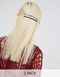 Набор из двух заколок для волос с блестками ограниченной серии Asos