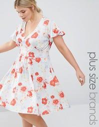 Платье с цветочным принтом Pink Clove - Синий