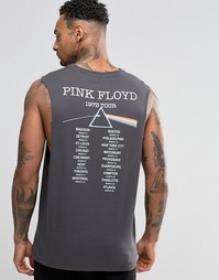 Футболка без рукавов с низкими проймами ASOS Pink Floyd