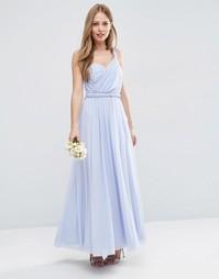 Платье макси ASOS WEDDING - Голубой лед