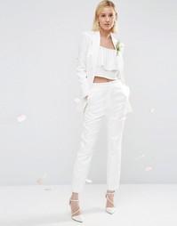Жаккардовые брюки ASOS BRIDAL - Белый