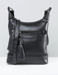 Кожаная сумка через плечо Ruby Rocks - Черный
