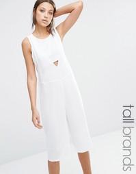 Комбинезон с юбкой‑шортами Noisy May Tall Nikita - Снежно-белый