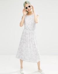 Платье-футболка с принтом Monki - Белый