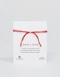 Регулируемый браслет из красных шелковых нитей Dogeared Make A Wish