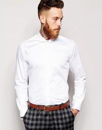 Рубашка зауженного кроя с маленьким округлым воротником Noose & Monkey