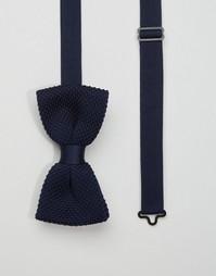 Вязаный галстук-бабочка Noose & Monkey - Темно-синий