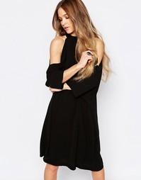 Платье миди с открытыми плечами Liquorish - Черный