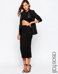 Удлиненная юбка‑карандаш миди ASOS TALL - Черный