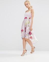 Приталенное платье с цветочным принтом Hope And Ivy - Розовый