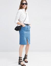 Джинсовая юбка-карандаш ASOS - Синий