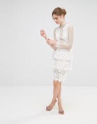 Кружевная ярусная юбка Endless Rose - Белый