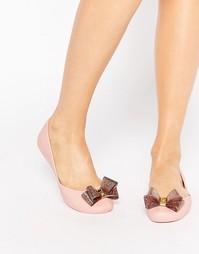 Туфли с блестящим бантиком Zaxy Start - Blush