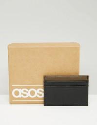 Визитница с контрастной вставкой ASOS - Черный