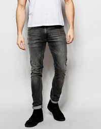 Выбеленные черные джинсы скинни Nudie Jeans Lin - Night Blizz