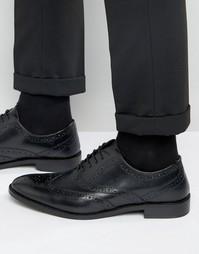 Черные кожаные оксфордские броги ASOS - Черный