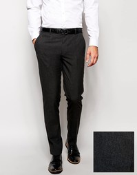 ASOS Skinny Smart Trousers in Charcoal - Угольный