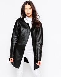 Куртка c эффектом трещинок Ichi Sunic - Черный