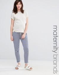 Свободные штаны для дома в полоску Mamalicious - Мульти Mama.Licious