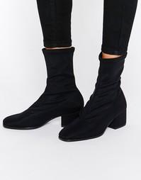 Черные полусапожки с эффектом носка Vagabond Daisy - Черный