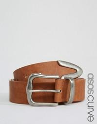 Ремень для джинсов с наконечником ASOS CURVE - Рыжий