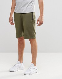 ASOS Slim Fit Jersey Shorts With Zips In Khaki - Хаки