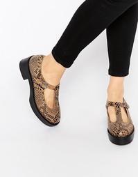 Замшевые туфли с Т-образным ремешком на платформе Park Lane
